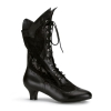 DAME-115 Black Faux Leather